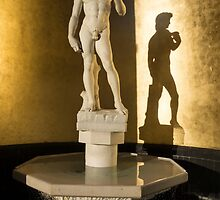 Michelangelo's David and his Shadow by Georgia Mizuleva