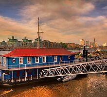 Sunset over Thames river by LudaNayvelt