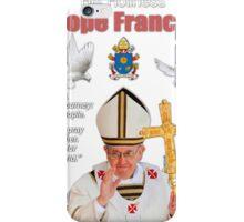 His Holiness Pope Francis 2015-prayer card with doves version 4 iPhone Case/Skin