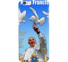 His Holiness Pope Francis 2015-prayer card with doves version 3 iPhone Case/Skin
