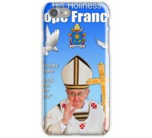 His Holiness Pope Francis 2015t-prayer card with doves/vatican 5 iPhone Case/Skin