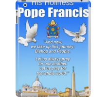His Holiness Pope Francis 2015t-prayer card with doves/vatican 2 iPad Case/Skin