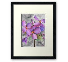 Purple Cluster Framed Print