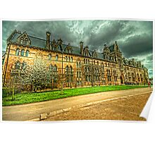 The Meadow Building Christ Church Oxford Poster