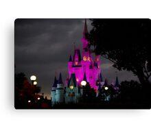 Magic Kingdom Castle at Night Canvas Print