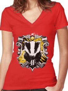 H Crest Women's Fitted V-Neck T-Shirt