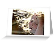 Beautyful Meagan - Wind in her hair Greeting Card