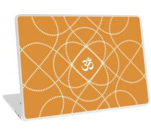 White Infinity Om Laptop Skin