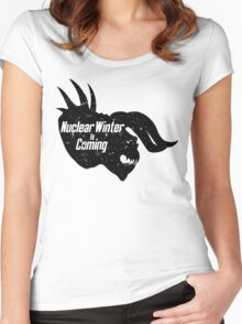 NUCLEAR WINTER IS COMING Women's Fitted Scoop T-Shirt