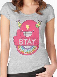 STAY WEIRD! Women's Fitted Scoop T-Shirt