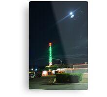 Motel in the moonlight Metal Print