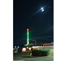 Motel in the moonlight Photographic Print