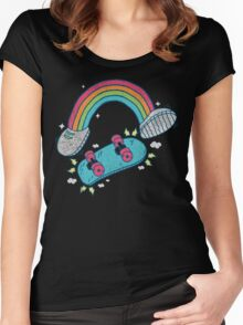 RADBOW! Women's Fitted Scoop T-Shirt