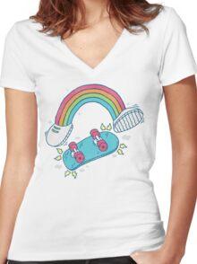 RADBOW! Women's Fitted V-Neck T-Shirt