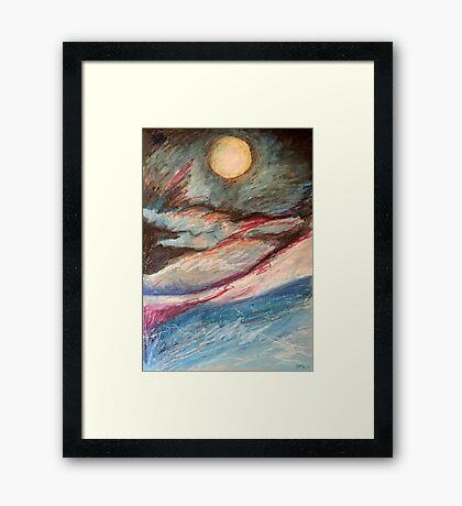 fullmoon glow Framed Print