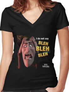 confuse drac the hotel transylvania 2 Women's Fitted V-Neck T-Shirt