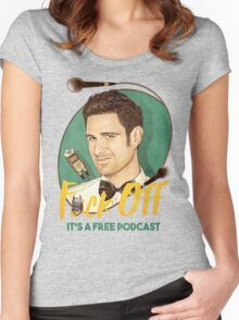 Wil Anderson - F*ck Off it's a Free Podcast (T-shirts, etc) Women's Fitted Scoop T-Shirt