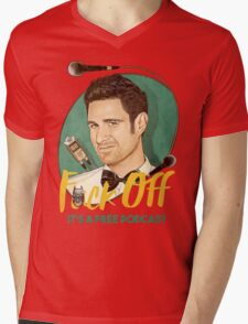 Wil Anderson - F*ck Off it's a Free Podcast (T-shirts, etc) Mens V-Neck T-Shirt