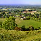 Sussex from South Downs (panorama) by Steve