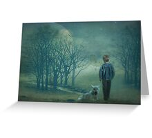 The boy who cried wolf Greeting Card