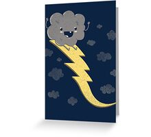RIDE THE LIGHTNING! Greeting Card