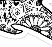 Dolphin Zentangle Sticker