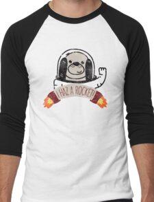 SPACE PUPPY HAZ A ROCKET! Men's Baseball ¾ T-Shirt