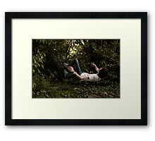 Floating People - Self Portrait Framed Print