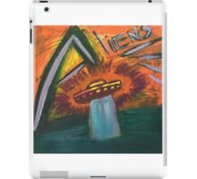 Alien space ship lost in space coming out of water and into oblivion iPad Case/Skin
