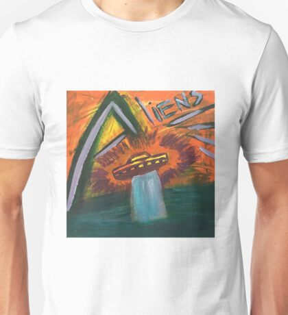 Alien space ship lost in space coming out of water and into oblivion Unisex T-Shirt