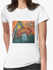Alien space ship lost in space coming out of water and into oblivion Womens Fitted T-Shirt