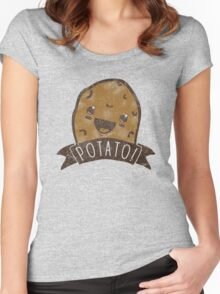 POTATO!!! Women's Fitted Scoop T-Shirt