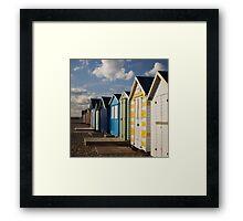 Mersea Island Huts Framed Print