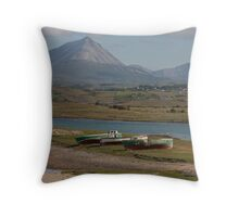 The ride from Troy Island to the mainland Throw Pillow