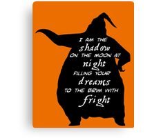 I Am The Shadow On The Moon Canvas Print