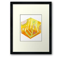 Square Sun Framed Print