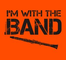 I'm With The Band - Clarinet (Black Lettering) Kids Clothes