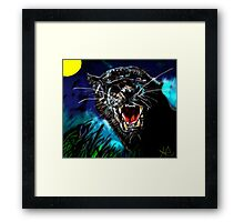 Pumpernickel Puma Framed Print