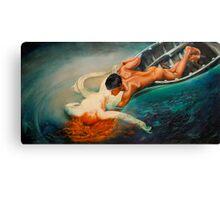 La Sirena - From Guilio Aristide Sartorio 1893 Canvas Print