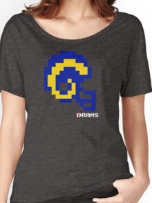 Tecmo Bowl - Los Angeles - 8-bit - Mini Helmet shirt Women's Relaxed Fit T-Shirt