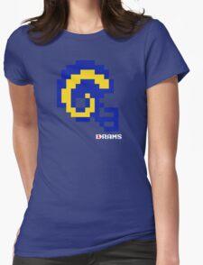 Tecmo Bowl - Los Angeles - 8-bit - Mini Helmet shirt Womens Fitted T-Shirt