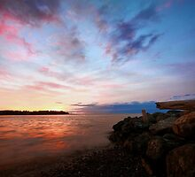 Parksville Beach Sunset by EchoNorth