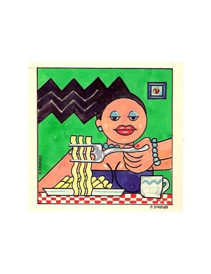 PoMo Girl Dining by djs42s