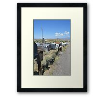The road to Hualapai wash Framed Print