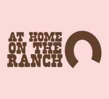 At home on the RANCH with lucky horseshoe One Piece - Long Sleeve