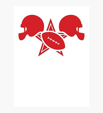 American football gridiron with a star Photographic Print