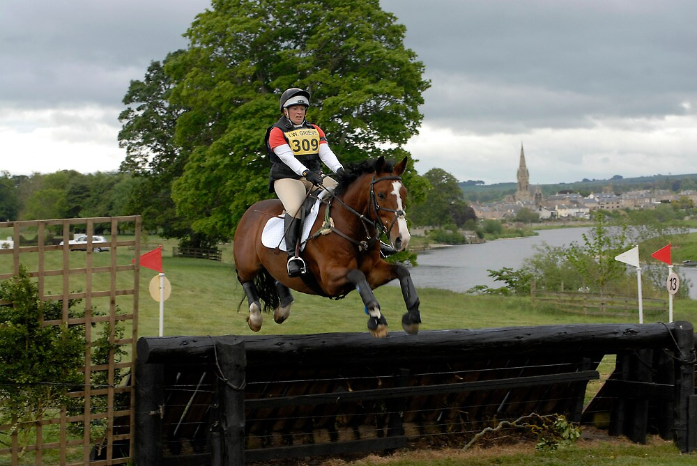 Tricia Hynd on Bill at Floors' Castle Eventing 2011 by photobymdavey