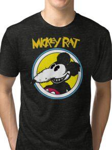 Mickey Rat Funny Parody Retro Tri-blend T-Shirt