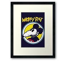 Mickey Rat Funny Parody Retro Framed Print