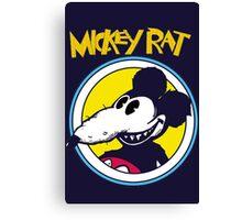 Mickey Rat Funny Parody Retro Canvas Print